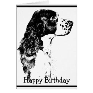 Tarjeta de cumpleaños del perro de aguas de