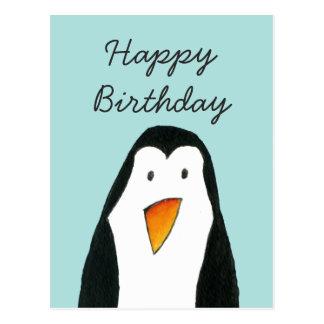 Tarjeta de cumpleaños del pingüino