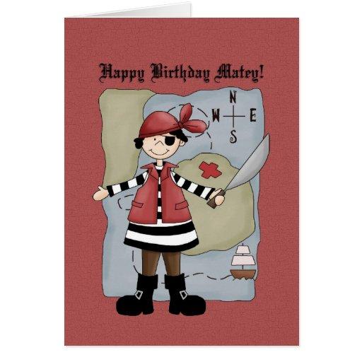 Tarjeta de cumpleaños del pirata