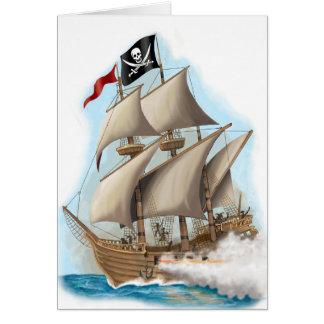 tarjeta de cumpleaños del pirata de los niños