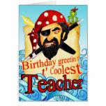 Tarjeta de cumpleaños del pirata para el profesor