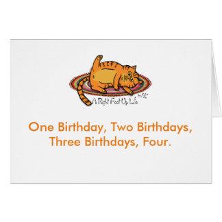 Tarjeta de cumpleaños del polluelo del Hippie