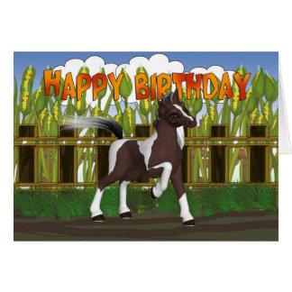 Tarjeta de cumpleaños del potro - tarjeta de cumpl