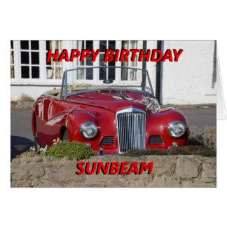 Tarjeta de cumpleaños del rayo de sol del feliz cu