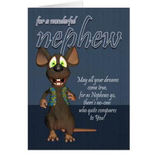 Tarjeta de cumpleaños del sobrino - con el ratón
