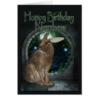 Tarjeta de cumpleaños del sobrino - cumpleaños de