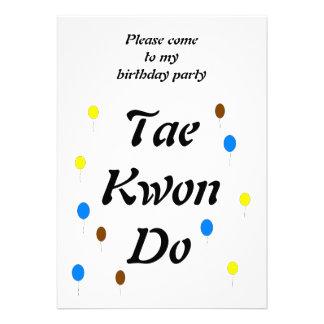 Tarjeta de cumpleaños del Taekwondo Invitacion Personalizada