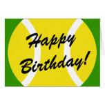 Tarjeta de cumpleaños del tenis