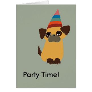 Tarjeta de cumpleaños del tiempo del fiesta del