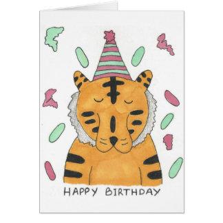 Tarjeta de cumpleaños del tigre
