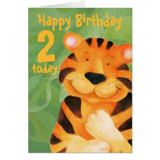 Tarjeta de cumpleaños del tigre 2 hoy
