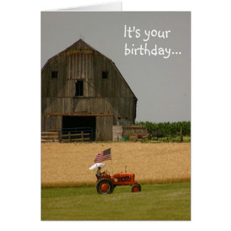 Tarjeta de cumpleaños del tractor: ¡Hora de