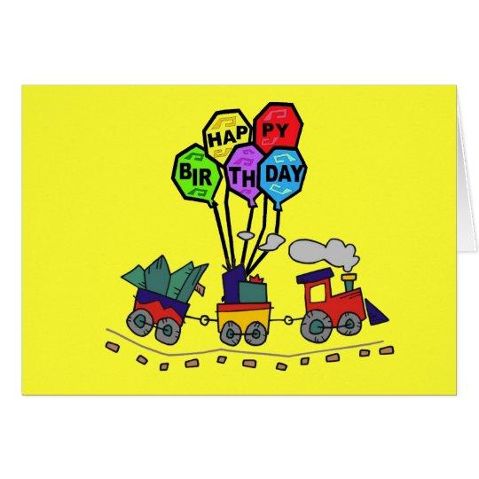 Tarjeta de cumpleaños del tren de Lil Choo Choo