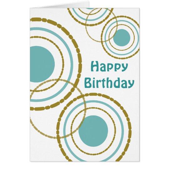 Tarjeta de cumpleaños del trío de los círculos