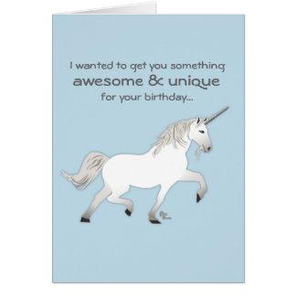 Tarjeta de cumpleaños del unicornio