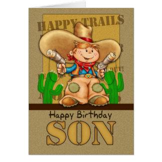Tarjeta de cumpleaños del vaquero del hijo - Rooti