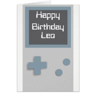 Tarjeta de cumpleaños del videojugador