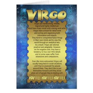 Tarjeta de cumpleaños del virgo - tarjeta de cumpl