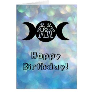 Tarjeta de cumpleaños del zodiaco de la muestra
