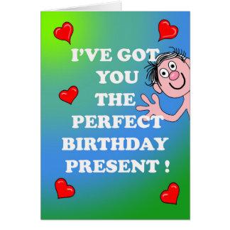 Tarjeta de cumpleaños descarada