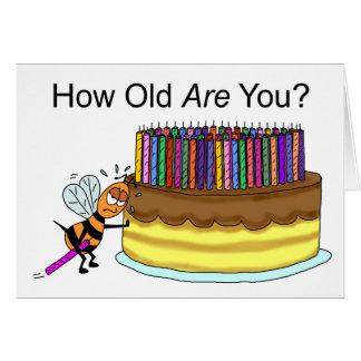 Tarjeta de cumpleaños divertida:  Cera de abejas d