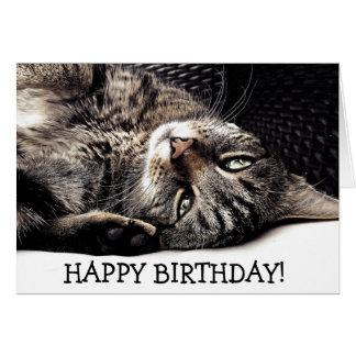 ¡Tarjeta de cumpleaños divertida con el gato - Tarjeta De Felicitación