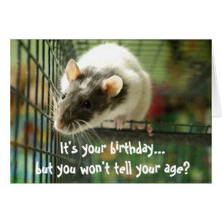 Tarjeta de cumpleaños divertida de la foto de la r
