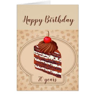 Tarjeta de cumpleaños divertida de la torta de