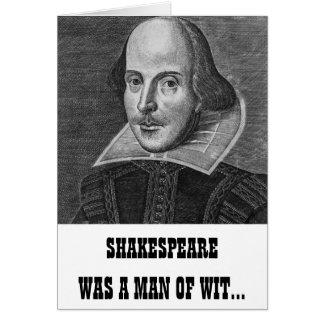 Tarjeta de cumpleaños divertida de Shakespeare