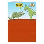 Tarjeta de cumpleaños divertida del dinosaurio