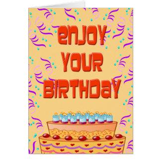 Tarjeta de cumpleaños divertida personalizada