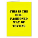 Tarjeta de cumpleaños divertida - Texting pasado d