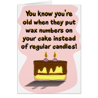 Tarjeta de cumpleaños divertida: Velas del