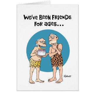 Tarjeta de cumpleaños divertida: Viejos amigos