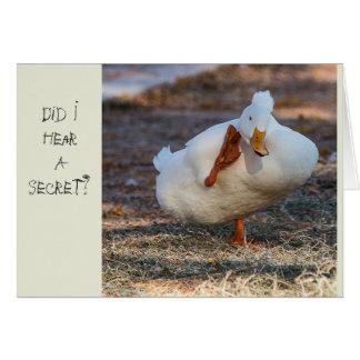 Tarjeta de cumpleaños Ducky
