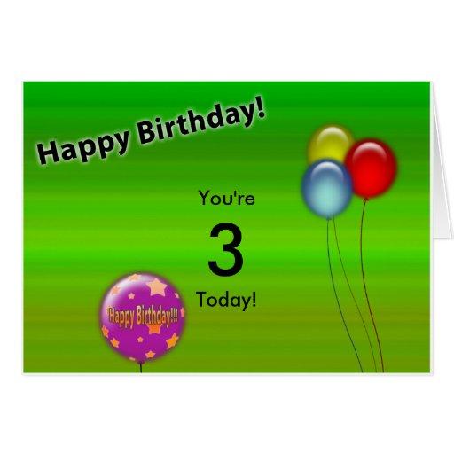 Tarjeta de cumpleaños (edad Editable)