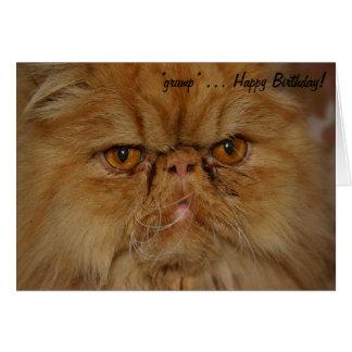 Tarjeta de cumpleaños: El gato más gruñón vivo