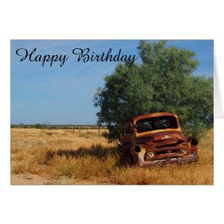 Tarjeta de cumpleaños en blanco del camión del