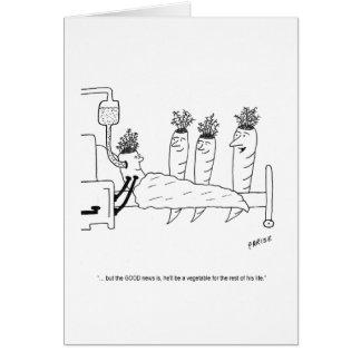 Tarjeta de cumpleaños enferma del dibujo animado