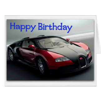 Tarjeta de cumpleaños enorme divertida del coche