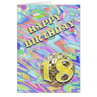 Tarjeta de cumpleaños enrrollada del extracto 18