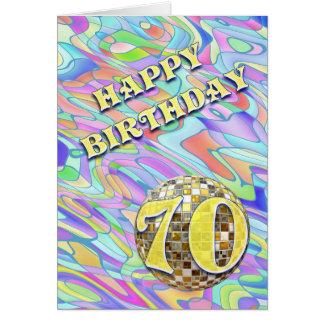 Tarjeta de cumpleaños enrrollada del extracto 70