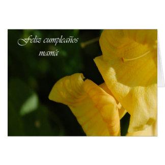 Tarjeta de cumpleaños española para la mamá