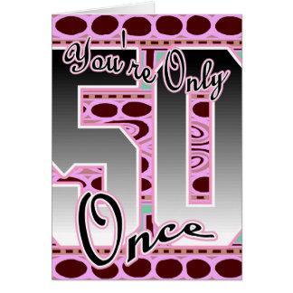 Tarjeta de cumpleaños fabulosa 50