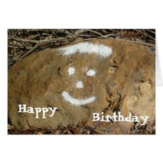 Tarjeta de cumpleaños feliz de la cara de la pinta