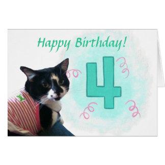 Tarjeta de cumpleaños feliz de las cintas del núme