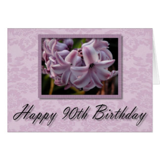 Tarjeta de cumpleaños feliz del ~ de la floración
