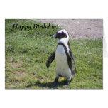 ¡Tarjeta de cumpleaños feliz del pingüino!