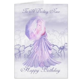 Tarjeta de cumpleaños femenina linda de la sobrina