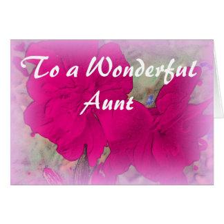 Tarjeta de cumpleaños floral de la tía